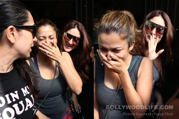 When Kareena couldn't stop laughing after cracking an inside joke with her BFF – view HQ pics #FansnStars