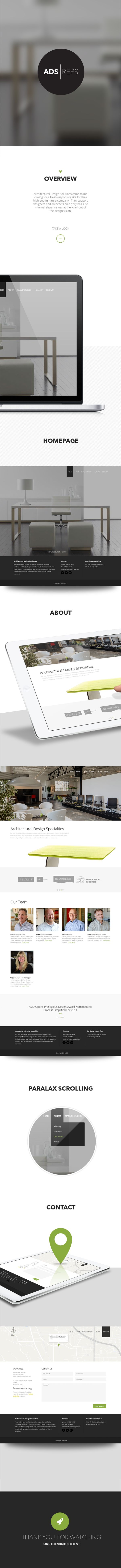 Architectural Design Specialties Website by Christopher Taylor, via Behance