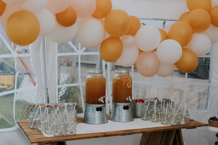 Drinks station hire from www.lovelyoccasions.com.au for Bowie's First Birthday