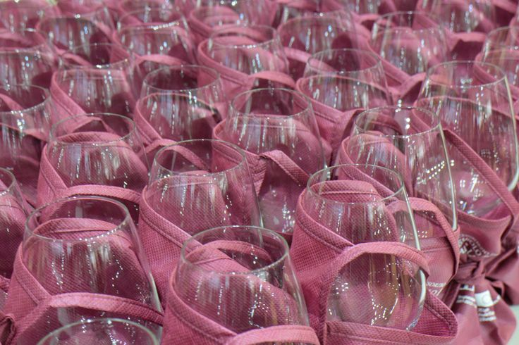 Wine glasses ready for tasting!
