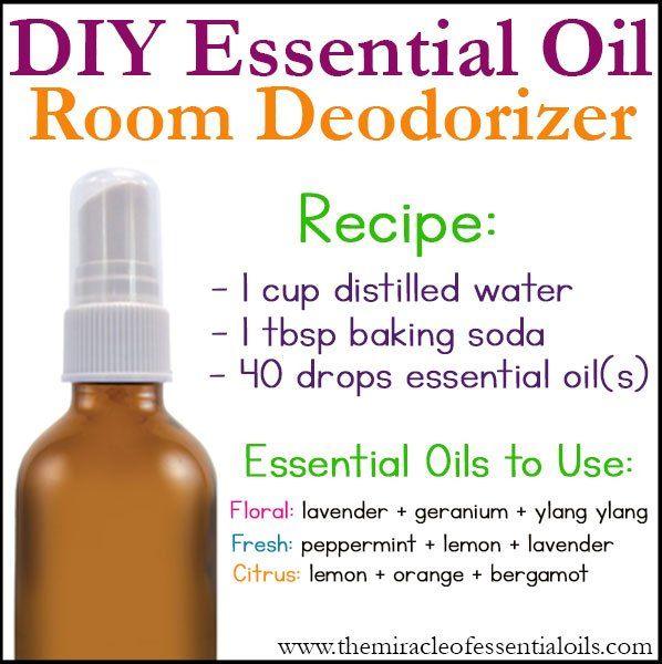 DIY Essential Oil Room Deodorizer