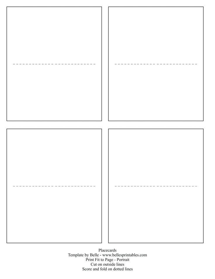001 place card template word ideas dreaded 4 per sheet