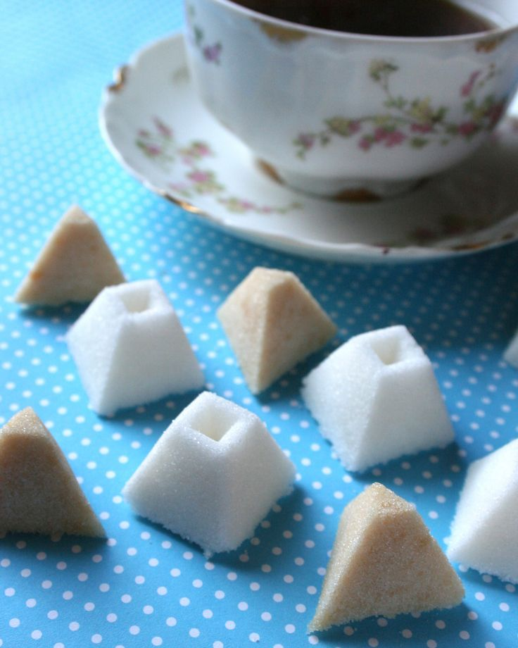 Homemade sugar cubes  -- If I used sugar in my coffee, I'd totally make the coffee-flavored ones! (lah)