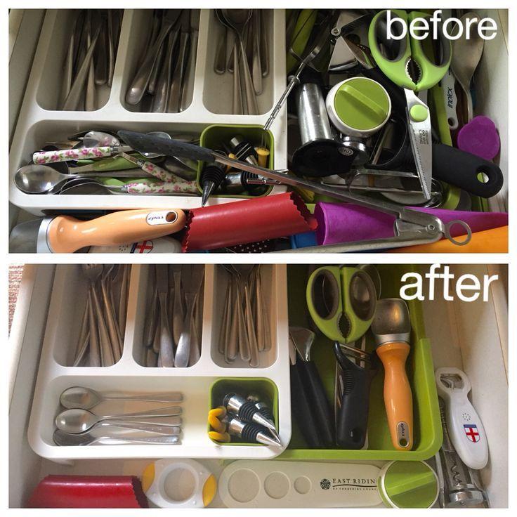 Before And After Kitchen Kimono Organizacion De Cocina