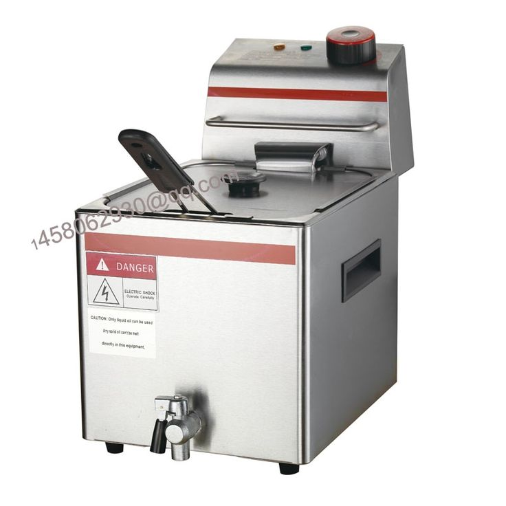 223.00$  Watch here - http://aliv1x.worldwells.pw/go.php?t=32651611107 - commercial 12L Single tank Electric Deep Fryer With Drain valve 223.00$