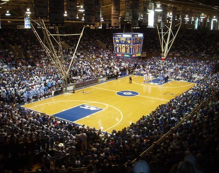 Cameron Indoor Stadium is an indoor arena located on the West Campus of Duke University in Durham, North Carolina. Description from imgarcade.com. I searched for this on bing.com/images