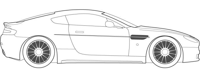 Race Car Jaguar Coloring Page