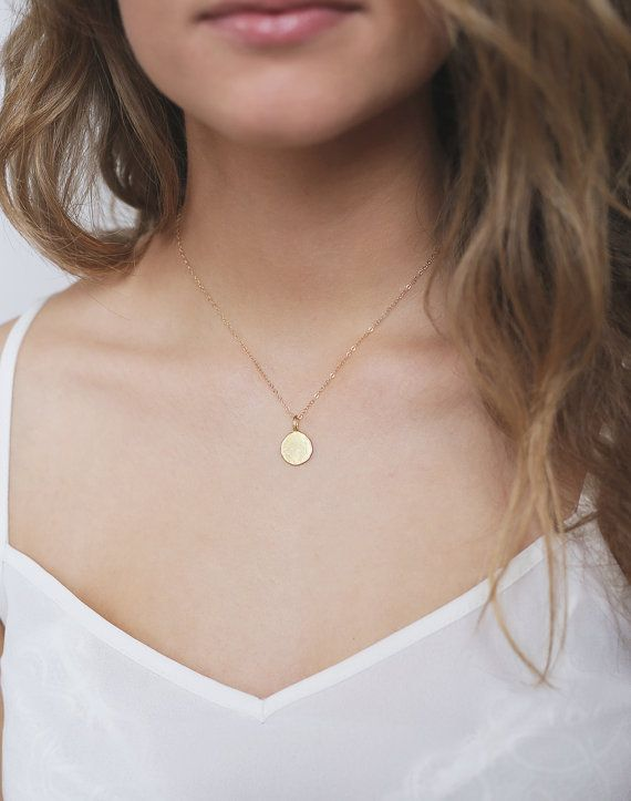 Circle Vermeil and Gold Filled 14k Necklace / Necklace Gold