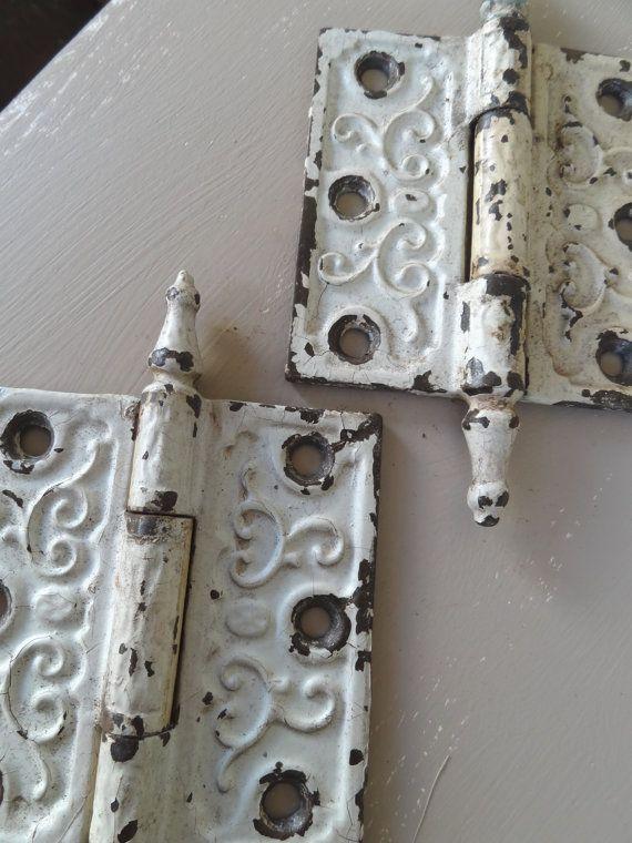 Vintage Antique Door Hinges Hardware Repurpose by countryfences