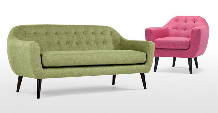 Ritchie 2-Sitzer Sofa, Limettengrün - MADE.COM Jetzt bestellen unter: https://moebel.ladendirekt.de/wohnzimmer/sofas/2-und-3-sitzer-sofas/?uid=3f2346ad-c168-5b5e-9841-e9b50c14aa06&utm_source=pinterest&utm_medium=pin&utm_campaign=boards #sofas #3sitzersofas #2sitzer #wohnzimmer