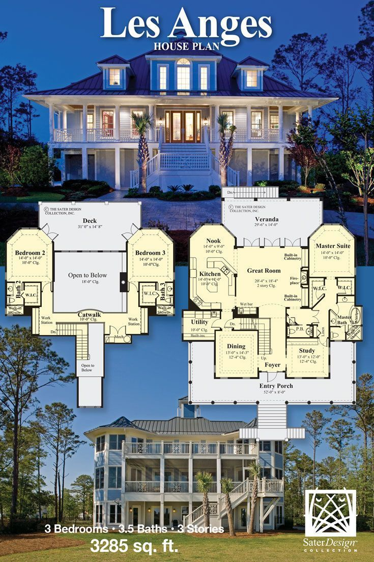 The Sater Design Collection the les anges | sater design collection house plans | home