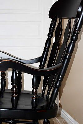 I have this rocking chair and am totally refinishing/antiquing it!! Black with gold underneath!