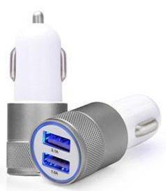USB auto lader 2.1 A Grijs