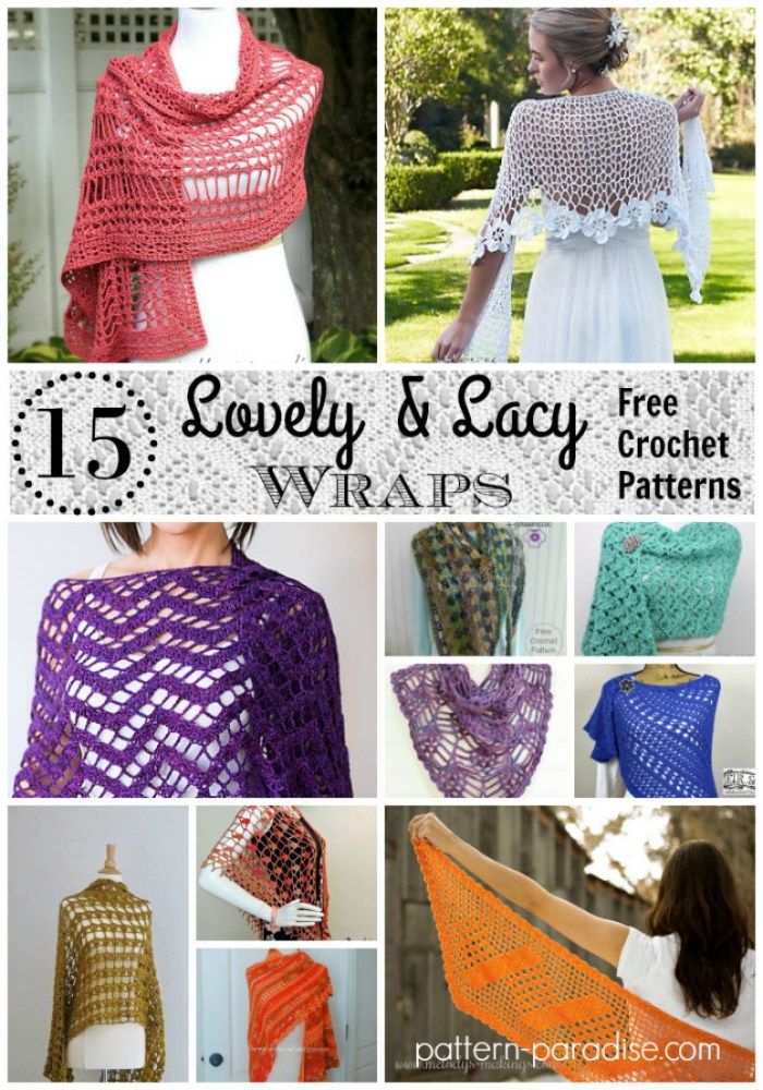 Crochet Finds: Lovely Lacy Wraps