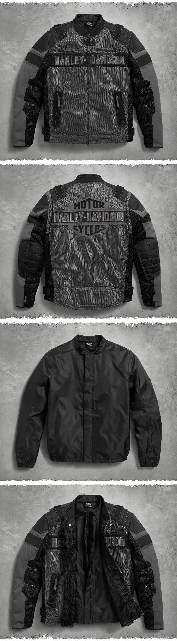 A jacket that can navigate the seasons makes a loyal travel partner. | Harley-Davidson Men's Codec Textile/Mesh Riding Jacket