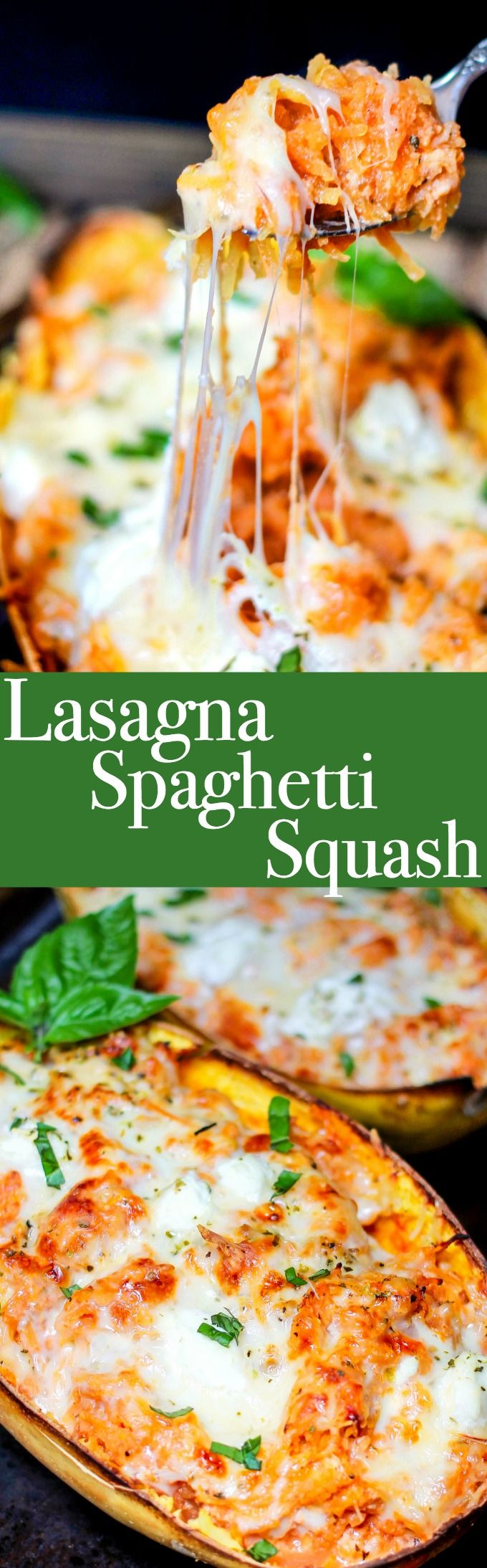 Spaghetti Squash Lasagna cuts the carbs but not the flavor! It's stuffed with your favorite traditional lasagna ingredients, and makes the perfect healthy dinner! #ad #herbalife