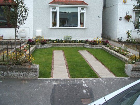 Best Front Garden Decor Ideas Images On Pinterest Front - Front garden with driveway design