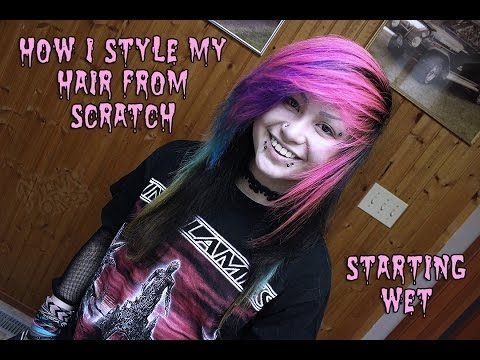 "Styling Hair From Scratch (wet) ""scene"" ""emo"" ""large bang"" ""massive combover"" - YouTube"