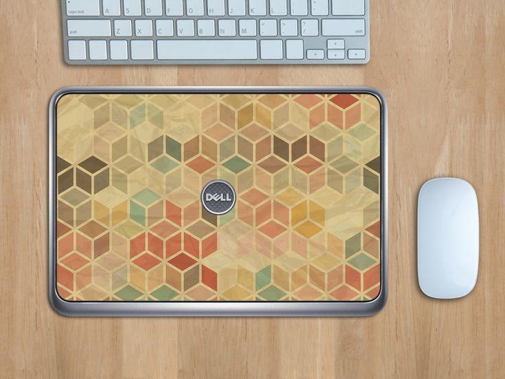 3D Retro Muster für das Dell XPS12 #EasyCover #Laptopfolie #3D #Retro