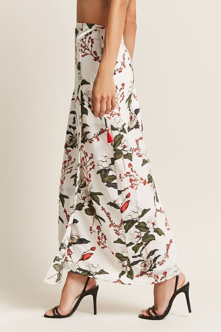 Product Name:London Rose Floral Maxi Skirt, Category:bottom_skirt, Price:54