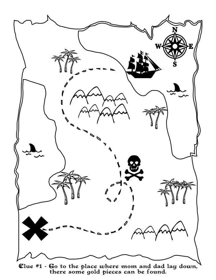 Free Printable Pirate Map                                                                                                                                                                                 More