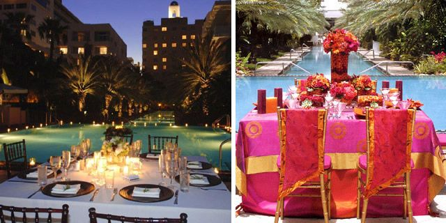 Poolside Wedding Outdoor Reception Poolside Wedding Reception Ideas Pinterest South