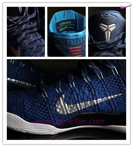 vendita online scarpe 630847-404 Blu vivo/Blu marina-Ossidiana scuro-Argento metallizzato Nike Kobe 9 Elite Uomo