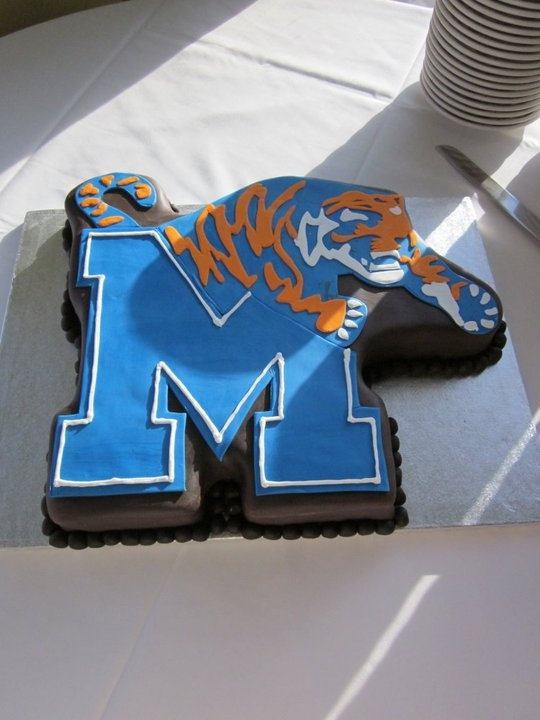 Memphis Tigers Groom's Cake Beach Wedding Destin, Florida Beach Wedding Santa Rosa, Florida Beach Wedding