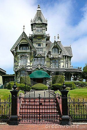 Victorian carson mansion in eureka california with gingerbread details dwellings - Maison victorienne ...