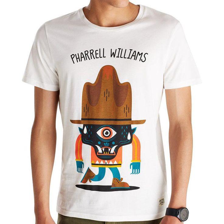 Jack & Jones yeni sezon Pharrell Williams özel tasarımlı tshirtler Blogger's Beyoğlu ve İnternet magazalarinda.