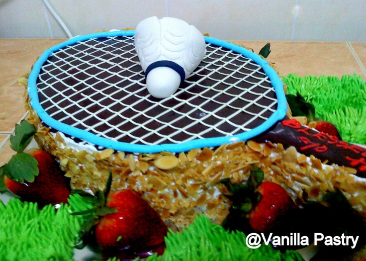Vanilla Pastry A 3d Badminton Cake From