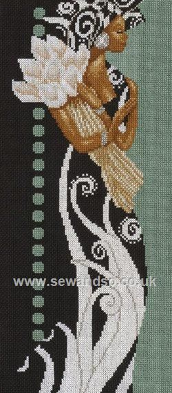 Buy African Lady with Flowers Cross Stitch Kit online at sewandso.co.uk