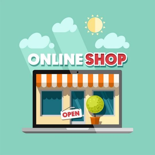 Online shopping concept. on Behance