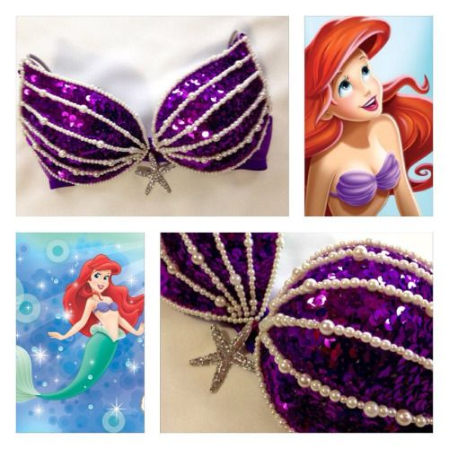 Rave Bras Tumblr | The Little Mermaid Rave Bra