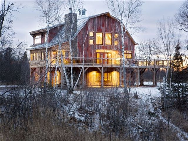 Lake Superior Barn | Exterior...Location: Brule, Wisconsin   Cost per night: starts at $600 Sleeps: 20 people