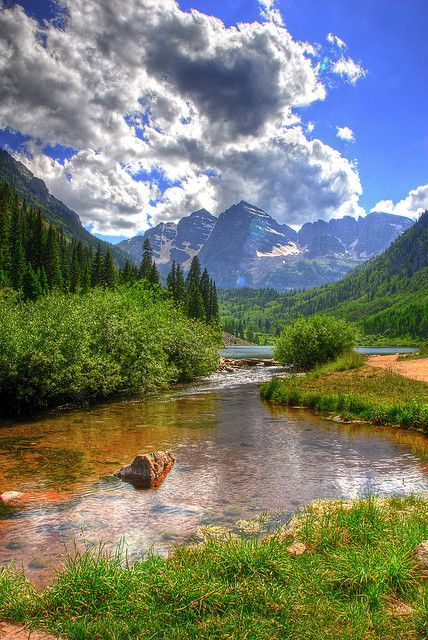 Maroon Bells-Snowmass Wilderness of White River National Forest near Aspen, CO. Wilderness Campsites.