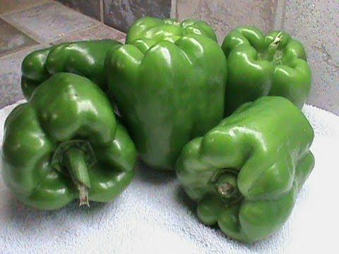 How to Freeze Green Peppers - YouTube