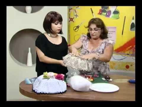 Mulher.com - 21/04/2016 - Cobre bolo em tecido e feltro - Jully Malzoni PT1 - YouTube
