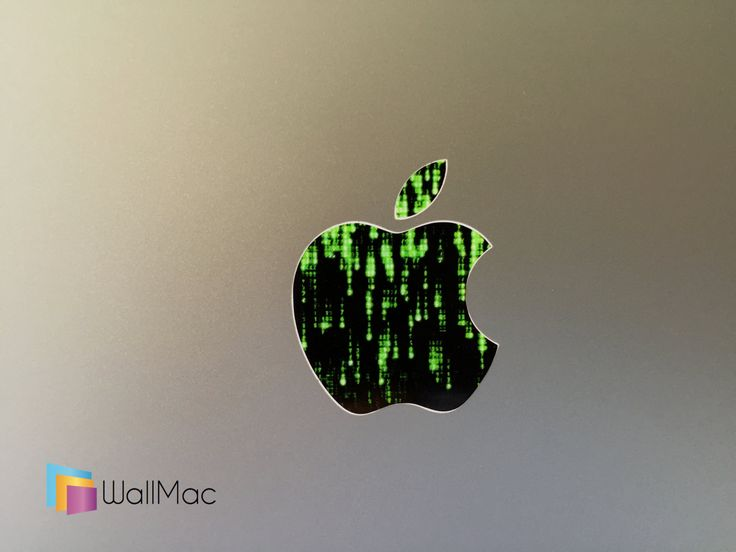 The Matrix Computer Glowing Backlit Apple Logo for MacBooks 2 Decals Stickers per Order by WallMac on Etsy