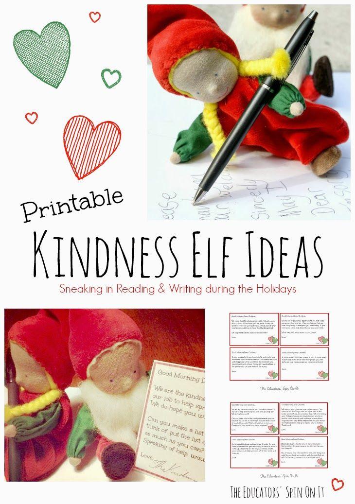 Printable Kindness Elf Ideas