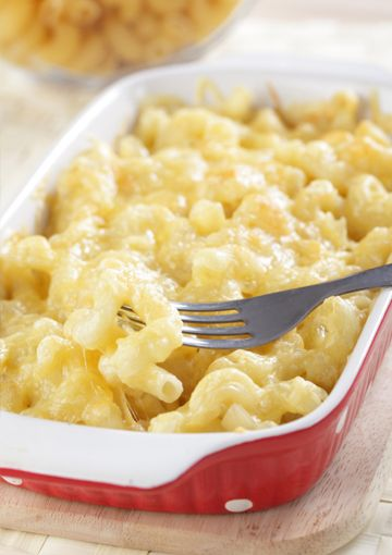 "Paula Deen's ""The Lady's Cheesy Mac"" lighted up in this equally fabulous Not-as-sinful mac & cheese!"