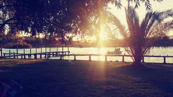 Puesta de sol en lago rapel #fototeti #teti
