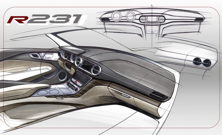 Mercedes-Benz SL-Class - Interior Design Sketch