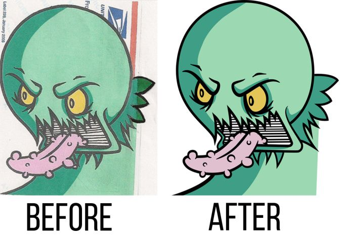 convert your image in a perfect vector tracing by rafalabanda