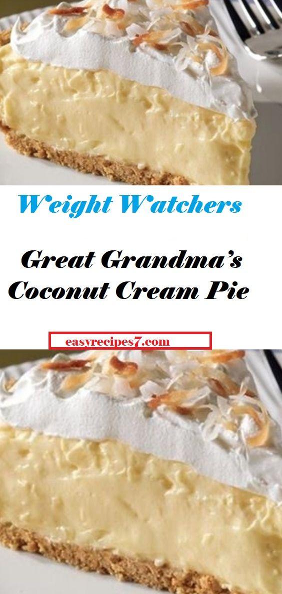 Tarte à la crème de coco de grand-mère   – Favorite Recipes