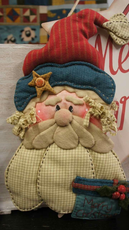 @Babbo Natale,Country Christmas,cucito creativo.