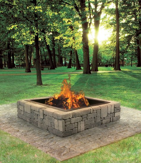 This rustic fire pit makes a great addition to your for Amazing outdoor fire pits