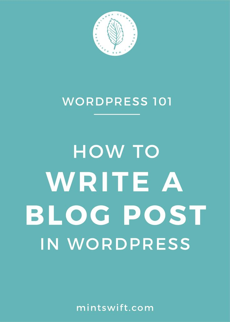 WordPress is usually used by online businesses for either blog purposes - where the Blog is the Homepage and all the blog posts are listed there or as a full website with different pages like Home, About, Services, Portfolio and they have Blog or not. Today, we'll talk about how to write a blog post in WordPress, so how to actually upload your content, so you can publish your first blog post on your either your Blog site or Blog & Website site.
