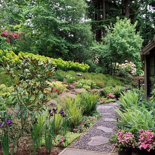 landscaping on a slope how to make a beautiful hillside garden my dream garden path. Black Bedroom Furniture Sets. Home Design Ideas