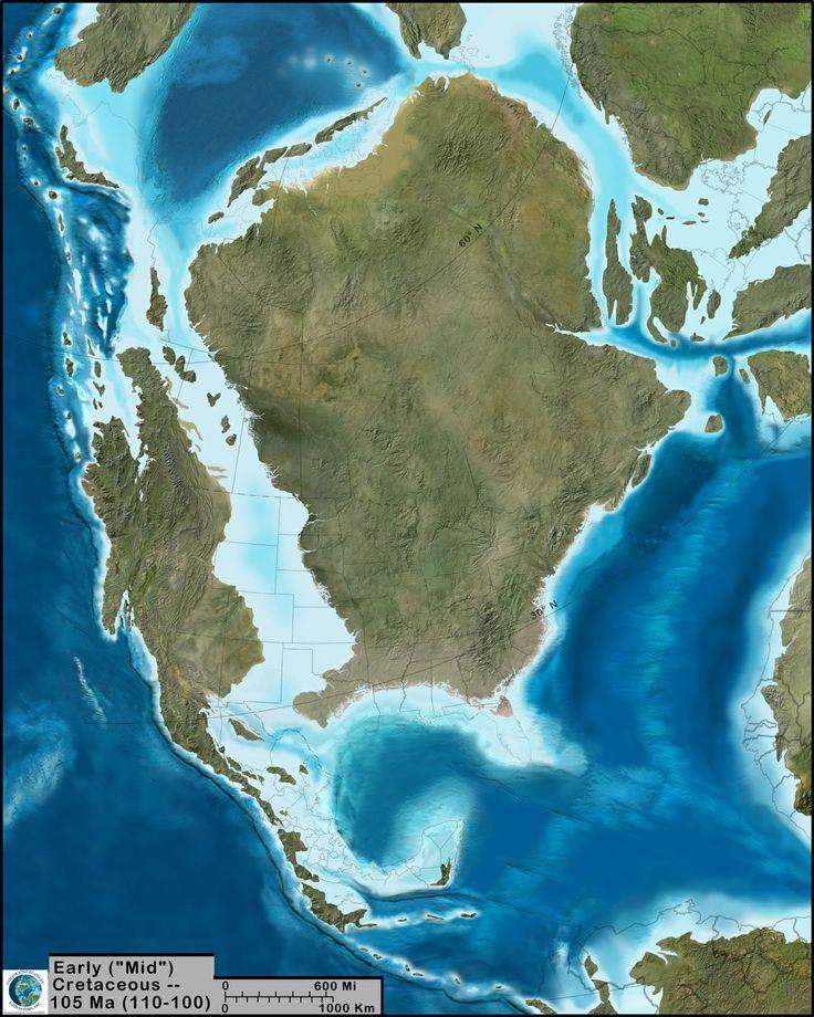 Paleogeographic Map Ron Blakey Mid Cretaceous